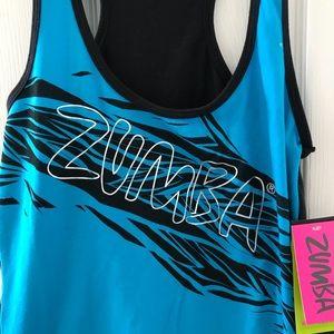 Zumba Fitness Tops - Zumba blue/black racerback tank! NWT